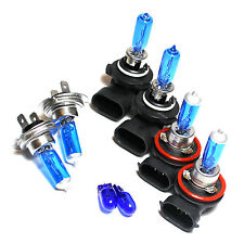 HB3 H7 H11 501 55w ICE Blue Xenon HID High/Low/Fog/Side Light Bulbs Set