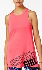 MACY'S 24.50 MATERIAL GIRL HOT PINK LARGE ACTIVE Graphic HI LO NWT TANK TOP