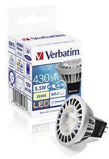 Carton lot 10x Verbatim LED Globe MR16 GU5.3 5.5W 430lm CW 35Deg Dimmable 52317