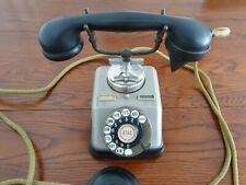 Antique Rotary Dial Copper & Brass Phone Telephone Kjobenhavns Telefon Denmark