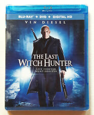 SEALED The Last Witch Hunter VIN DIESEL MOVIE (Blu-Ray + DVD + Digital HD)
