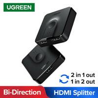 UGREEN HDMI Splitter Bi-Direction HDMI Switcher 1x2/2x1 Adapter for TV Box PS4