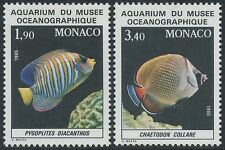 1986 MONACO N°1541/1542**POISSON Fish National Oceanographic Aquarium.MNH
