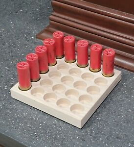 10 GAUGE SHOTGUN-SHOTSHELL RELOADING TRAY-CNC CUT HARDWOOD HICKORY