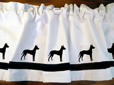 Xoloitzcuintli Xolo Mexican Hairless Dog Window Valance in Your Choice of Colors