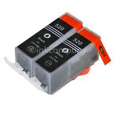 2 für CANON Patronen +Chip PGI-520 bk black IP 3600 IP 4600 IP 4700 MP 540 NEU