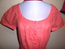TARGET cotton TOP size 12 NEW & tags coral light summer work casual shortsleeve