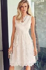 Kaleidoscope NEW Lace A-Line Skater Prom Occasion Midi Dress in Blush 10 to 22