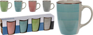Set of 4 Coffee Mugs Cafe Latte Mug Coffee Tea Cup Drinking Cups 275ml Each