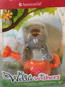 American Girl Wellie Wishers New Package Plush Gopher Watering Can