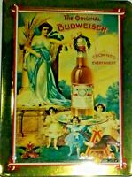 Anheuser Busch Advertising 1996 Tin and Card Set Vintage Reproductions 1890-1909