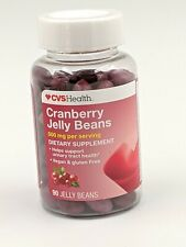 CVS HEALTH ~ CRANBERRY JELLY BEANS for Urinary Tract Health 90 Jelly Beans04/21+