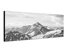150x50cm Panoramabild Schwarz Weiss - schöne Alpen Blick vom Titlis Berge