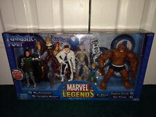 Fantastic Four CHASE SET Clear Invisible Woman Marvel Legends Toybiz 2004 MISP
