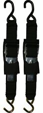 Tie Down Straps Anchor Paddle Buckle Transom Trailer Boat Hook Strap 2 Inch Pair