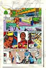 Original 1983 Invincible Iron Man 177 page 4 Marvel Comics color guide artwork