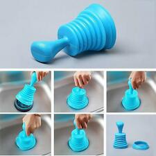 Kitchen Bath Sink Plunger Blocked Toilet Drain Unblock Sink Pipe Cleaner Blue AW