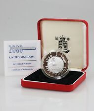 2000 Millennium SILVER Proof £5 Crown with Case & COA (PZ66)