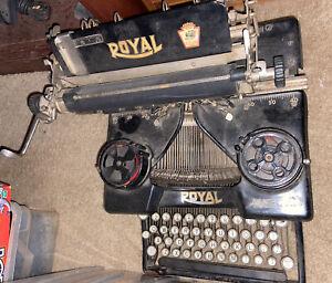 ANTIQUE ROYAL MODEL 10 MANUAL TYPEWRITER AS IS 1931 ORIGINAL
