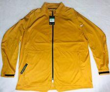 New Nike Men'sAeroShield Golf Jacket Full Zip Waterproof Breathable Gold XL