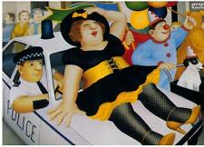 """Beryl Cook ~ """"Carnevale a Plymouth"""" ~ stampa montata"""