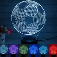 Remote/Touch Control 3D Football Pattern 7/16 Color Change LED Desk Night Light