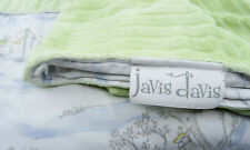 Javis Davis Baby Blanket Bunny Rabbits Bunnies Soft Green