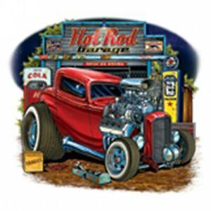 T-Shirt Hot Rod Garage Rockabilly Vintage Biker US Car V8 Oldtimer Ratty Rodder