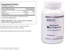 BodyBio/E-Lyte Sodium Butyrate 600 mg 100 caps - Exp Date: 06/2018