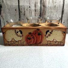 "Fall Farm Barn Sheep Pumpkins Apple Trees Placemat 100/% Cotton 13/"" x 17.75/"""