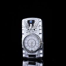 Multifunctional Cigarette Lighter Silver Bird Quartz Watch For Men