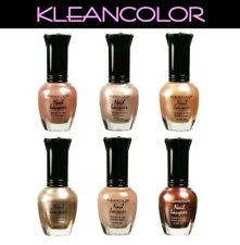 KLEANCOLOR Nude Beige Color Set of 6 Nail Polish Lacquer Collection + FREE Gift