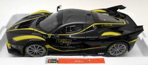 Burago 1/18 Scale Diecast - 18-16907B Ferrari FXX K Black Yellow Model Supercar
