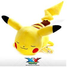 "BNWT Cute 19.7"" Pokemon Sleeping Pikachu Plush Soft Toy Cushion Bed Car Pillow"
