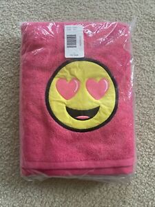 NWT Justice Emoji Bath Towel