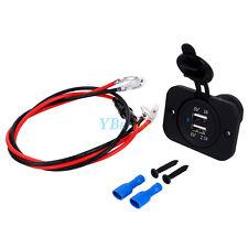 12V Double USB Port Car Cigarette Lighter Socket Splitter Charger Adapter Outlet
