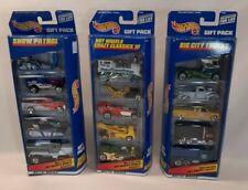 ☆ LOT 3 Hot Wheels Car Gift Packs SNOW PATROL-BIG CITY TRUCKS-CRAZY CLASSICS III