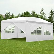 10'X20' Heavy Duty Portable Garage Carport Car Shelter Outdoor Canopy Tent White