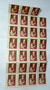 US Christmas, Memling National Gallery Of Art 1966 5c Sheet Stamps Less 1