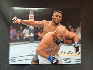 FRANCIS NGANNOU Autographed UFC GLOSSY 8x10 PHOTO