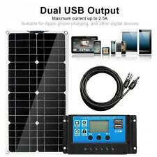 50W Semi-flexible Solar Panels Kit Battery Home Camp+30A Charge Controller
