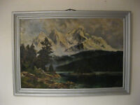 Oil Painting/Oil Painting/Painting with Wood Frame - Signed Baxmann?? - 102 x 72