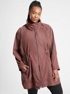 ATHLETA Drip Drop Jacket NWT - 2X Hearth Rose $149 #591159