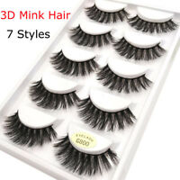 SKONHED5 Pairs 100% Real Mink 3D Volume Thick Daily False Eyelashes Strip Lashes