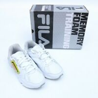 FILA MEMORY FOAM TRAINING WHITE SHOES SIZE 5-7.5