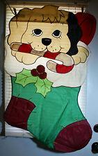 "Puppy Christmas Stocking House Flag Decorative 28"" x 40"" Outside Garden"