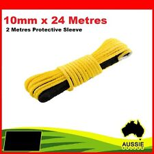 10mm x 24M SYNTHETIC WINCH RECOVERY ROPE 4X4 4WD OFFROAD CAR TOW FITS WARN ARB