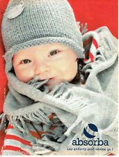 PUBLICITE ADVERTISING 016  2003  ABSORBA   vetements bonnets enfant bébé