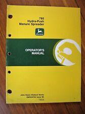 John Deere 785 Hydra-Push Manure Spreader Operator's Manual