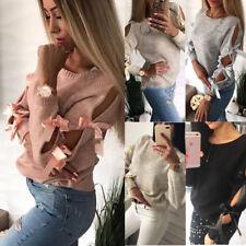 Womens Winter Long Sleeve Sweater Ladies Sweatshirts Jumper Pullover Tops Blouse